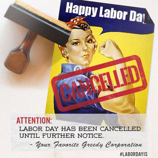 Cancelled Labor Day w Hashtag